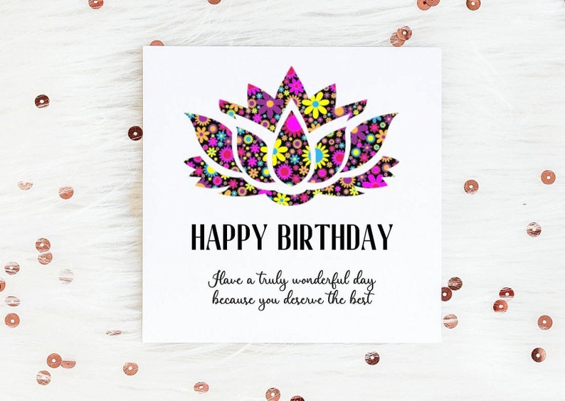 Special Friend Birthday Card Lotus Flower For