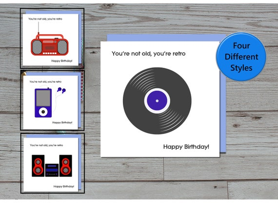 Funny Music Theme Birthday Card Youre Not Old