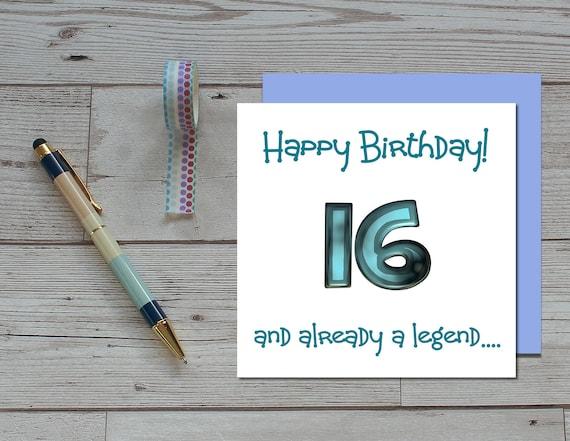 Boys 16th Birthday Card 16 And Already A Legend