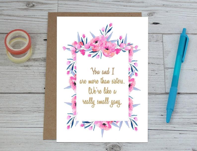 Sister Birthday Card Small Gang Special