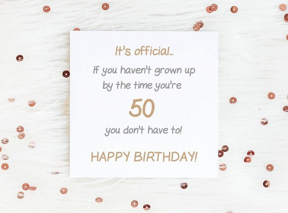 Funny Milestone Birthday Card 50th Birthday Card 60th Birthday Card