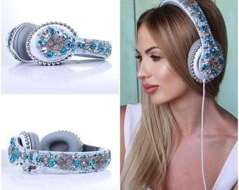 RHINESTONES HEADPHONES Dolce Crown Baroque Crown
