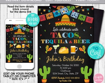 mexican invitation etsy