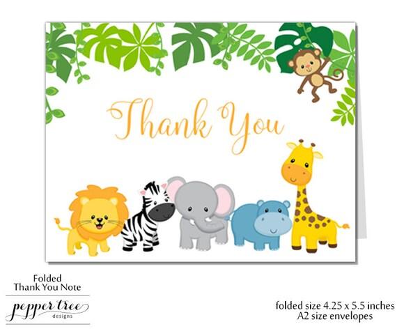 safari thank you note for birthday birthday thank you blank