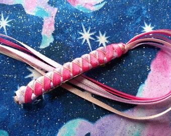 Ribbon Barrette / Hot Pink, Lilac, and Light Pink