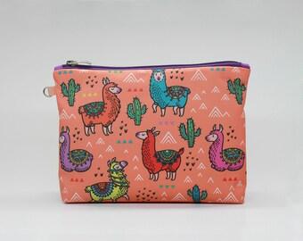e33134f788a52d Llama Makeup Bag Cactus Cosmetic Bag Makeup bag Zipper pouch Accessory bag  Travel bag Pencil Case Toiletry bag Cosmetic Case