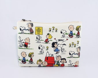 Charlie Brown and Friends Coin or PencilMakeup Bag