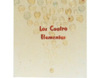 """Illustrated artist's book about """"the four elements"""". Accordion format. SINGLE EXAMPLE"""