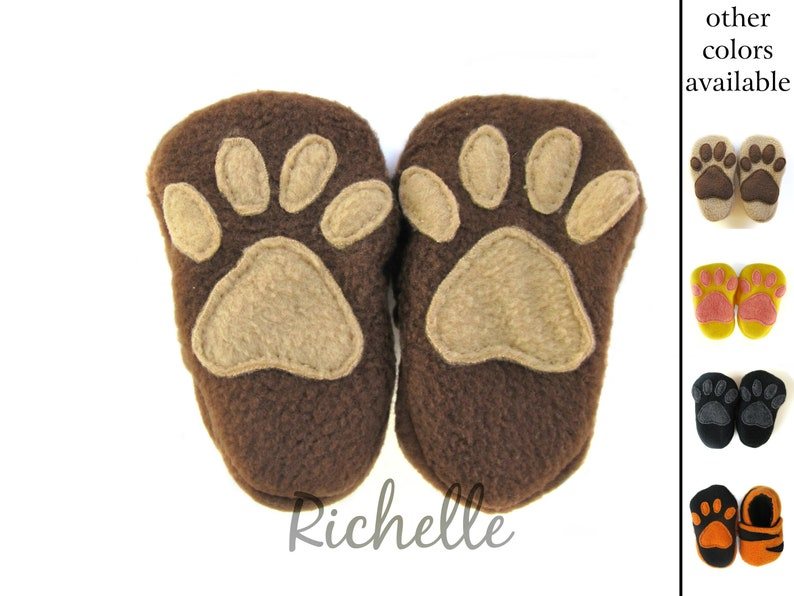 c5ee82f0784 Animal Paw Baby Shoes Brown Dog Bear Monkey Yellow Lion