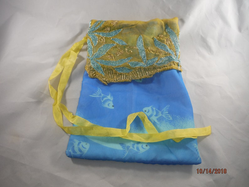 DreamscapesbyCyn OOAK Upcycled Sari Lined Gift Bag All Occasion
