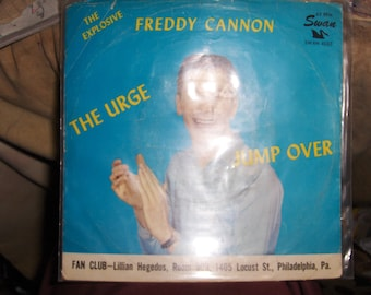 Freddy Cannon Music Drink Coaster Made with The Original 45 rpm Record