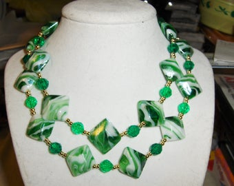 Green Rock Candy necklace
