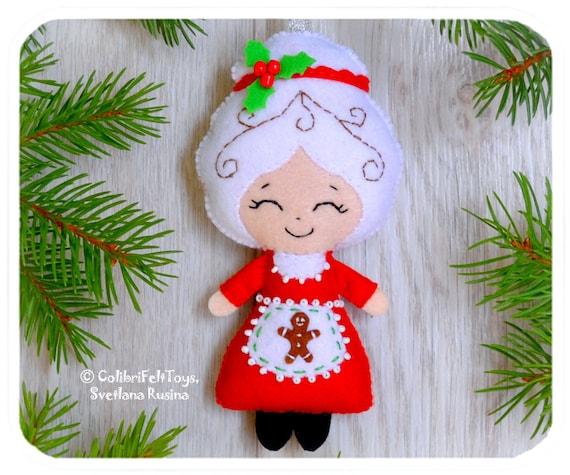 Christmas Tree Toys Decoration.Mrs Claus Felt Christmas Ornaments Cute Christmas Tree Toy Christmas Decorations Mrs Claus Ornament Christmas Gifts Christmas Favors