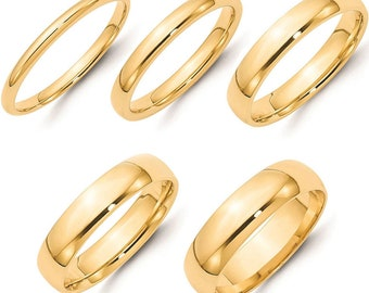 Mens Gold Wedding Band Etsy