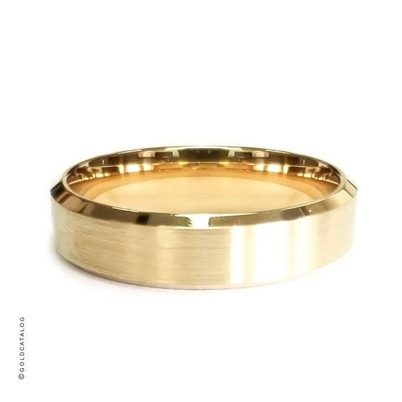 Design Ring Herren Damen 999er Gold 24 Karat vergoldet gelbgold R3142S