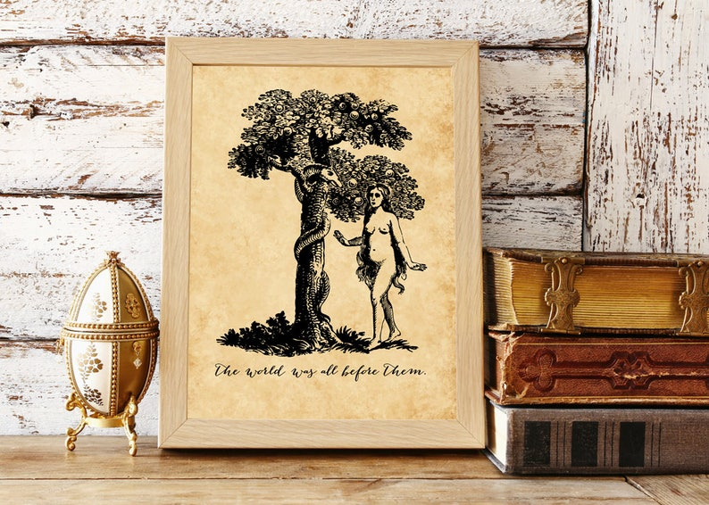 image about Printable Paradise identify Printable Paradise Missing Estimate John Milton World-wide Was All In advance of Them  Literary Quotation Prompt Obtain Literary Artwork Yard of Eden