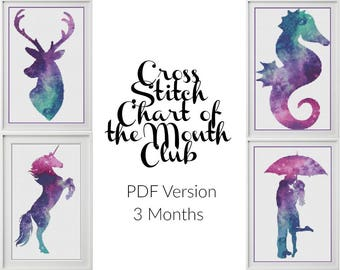 PDF Cross Stitch Chart of the Month Club - 3 Months