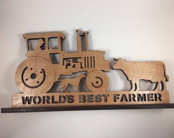 World's Best Farmer Sign