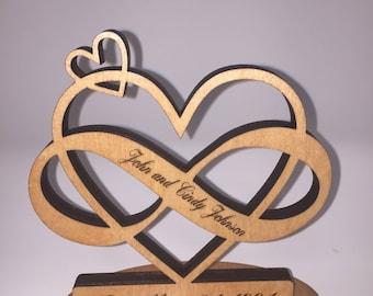 Wedding Date Infinity Heart