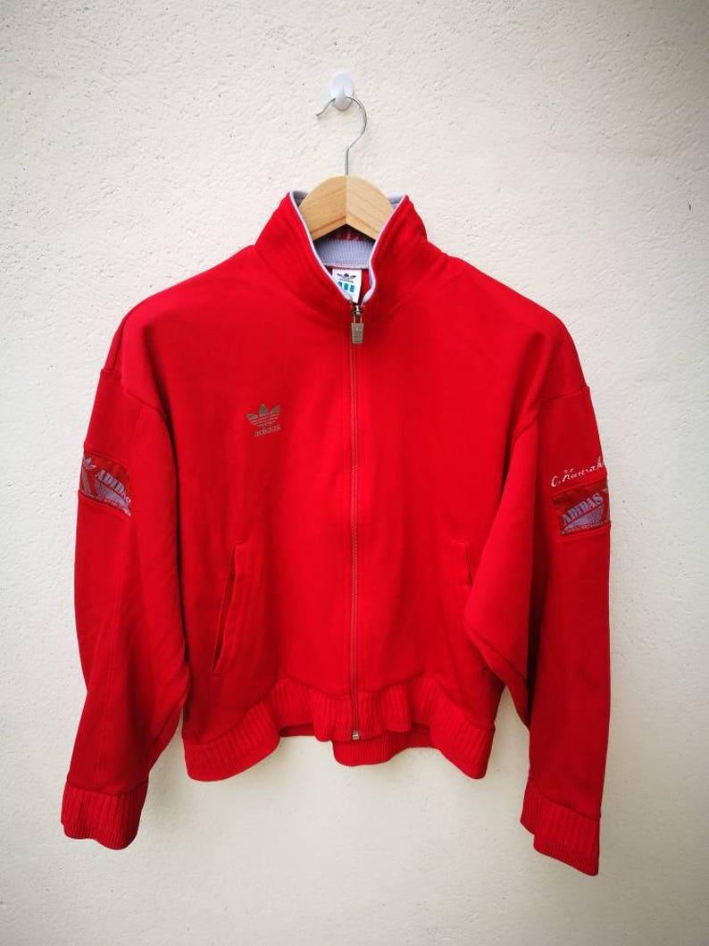ce0950f6b0a5 Vintage ADIDAS Jacket Track Top Women Adidas Trefoil Big Logo
