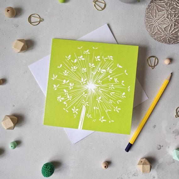 Allium Greetings Card - Green Allium Thank You Card - Floral Greetings Card