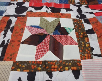 Quilt Top, Vintage Eight Point Star