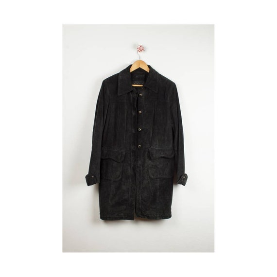 Vintage Suede Midnight Suede Coat