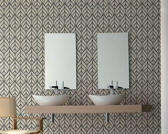 Removable Minimalistic Wallpaper, Self Adhesive Geometric Wallpaper, Regular Minimal, Removable, Wall Paper Removable, Wallpaper - A134