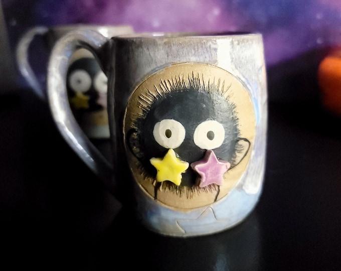 Featured listing image: Handmade Susuwatari, Soot Sprite Ceramic Mugs