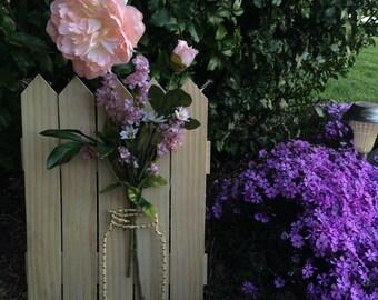 Mason Jar String Art- Flower Bouquet- Wall Hanging
