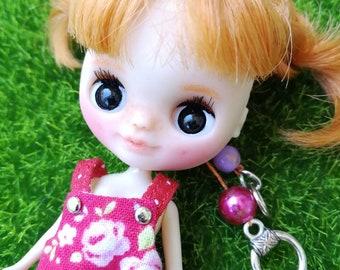 Petite Blythe FAKE, custom petite blythe, mini blythe, petite blythe doll, custom blythe, ooak petite, petite blythe sleepy eyes, petite