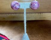 Super Cute Pink Marble Earrings