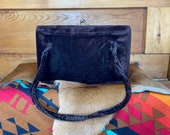 Brown Felt Handbag