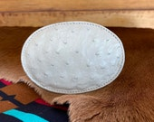 Ostrich Leather Belt Buckle