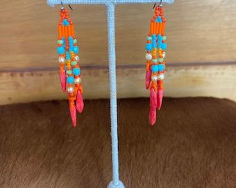 Dangle beaded earrings