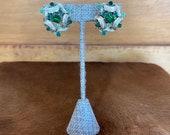 Emerald Green Clip On W Gold Ribbon