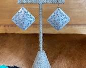 Vintage southwest sterling silver earrings by H.Joe