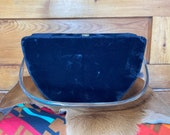 Black Felt Handbag