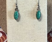 Southwest style Silver pendant earrings with turquoise stone, two pairs
