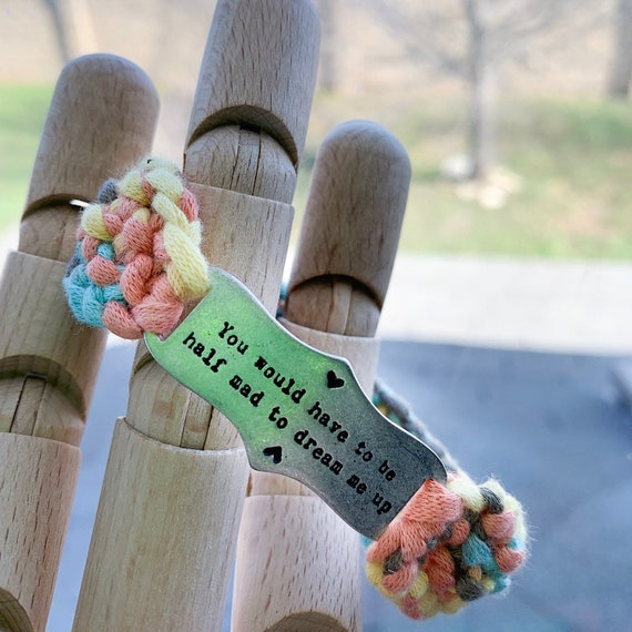 Alice in Wonderland Handmade Knit Bracelet / Disney Quotes / Best Friend  Gift / Accessories in Wonderland / Jewelry Accessories / Birthday