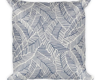 Blue Forest Square Pillow, Throw Pillow, Couch Pillow, Decorative Pillow, Modern Home Decor, Custom Pillow, Custom Home Decor, Euro Sham