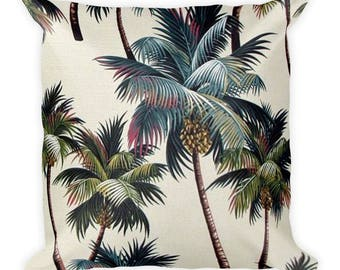Palm Tree Square Pillow,  Throw Pillow, Couch Pillow, Decorative Pillow, Modern Home Decor, Custom Pillow, Custom Home Decor, Euro Sham