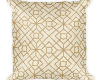 Gold Lining Square Pillow, Throw Pillow, Couch Pillow, Decorative Pillow, Modern Home Decor, Custom Pillow, Custom Home Decor, Euro Sham