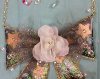 Lolita celestial bow necklace