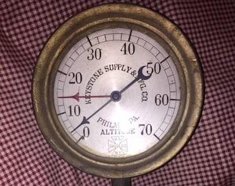 Antique Steam Gauge Keystone Supply & MFG CO Philadelphia