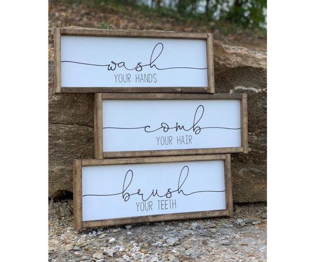 Home Decor Gifts | Farmhouse Wall Decor | Farmhouse Signs | Signs For Home | Bathroom Signs | Boho Farmhouse | Bathroom Decor