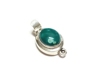 Single Strand Clasp Solid Sterling Silver and Genuine Copper in Burnt Umber Turquoise Single Strand Box Clasp Smooth Turquoise Box Clasp