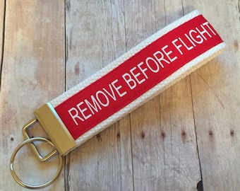 Remove before flight keychain, pilot, Air Force