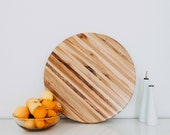 """Lazy Susan Extra Large 22"""" for Tabletops, Butchers Block, Centerpiece, Charcuterie, Turntable, Hard wood, Mixed Wood, Farmhouse Style"""