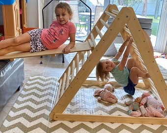 Pikler triangle, Climbing triangle, Pikler dreieck, Baby climber, Climbing ladder, ,  Step Triangle, Triangle with ramp, Pikler dreieck